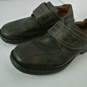 Мужские стильные фирменные туфли Josef Seibel  размер 41-42, длина стельки 27 см.