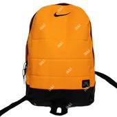 Ярко-оранжевый рюкзак молодежный в стиле Nike (Р-31)