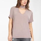 Новая! трикотажная блуза туника с чокером от select (uk16 - наш 50)