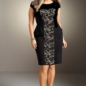 Платье с кружевной вставкой от bhs, большой размер (uk16 - наш 50)