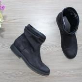 38 24,5см  Graceland Замшевые ботинки с широкой холявкой