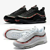 Кроссовки Undefeated x Nike Air Max 97 Black, р. 41-45, код fr-1350