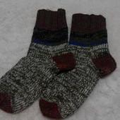 Теплые вязаные мужские носки р. 40-41