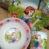 """Набор посуды из керамики """"Белоснежка"""""""