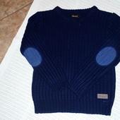 Теплый свитер с латками Rebel. 9-10 лет. 140 см
