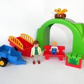 Конструктор Playmobil детали человечек зоопарк плеймобиль