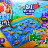 Кинетический песок Клевая рыбалка,2в1,Danko toys