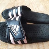 Шлёпанцы фирменные на липучке Adidas р.38-24.5см.