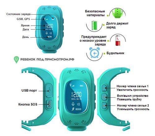 Original ® детские умные смарт часы q50. оригинал. oled экран. фото №5