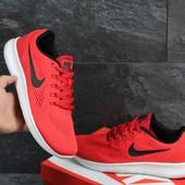 Кроссовки сетка Nike Free RN red