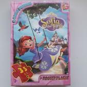Пазлы ТМ принцесса София G-Toys  35 дет