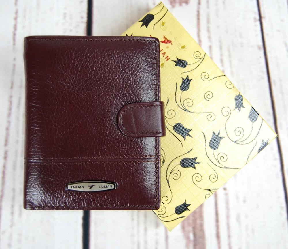 Небольшой мужской кожаный кошелек. портмоне мужской. натуральная кожа ек33 фото №1
