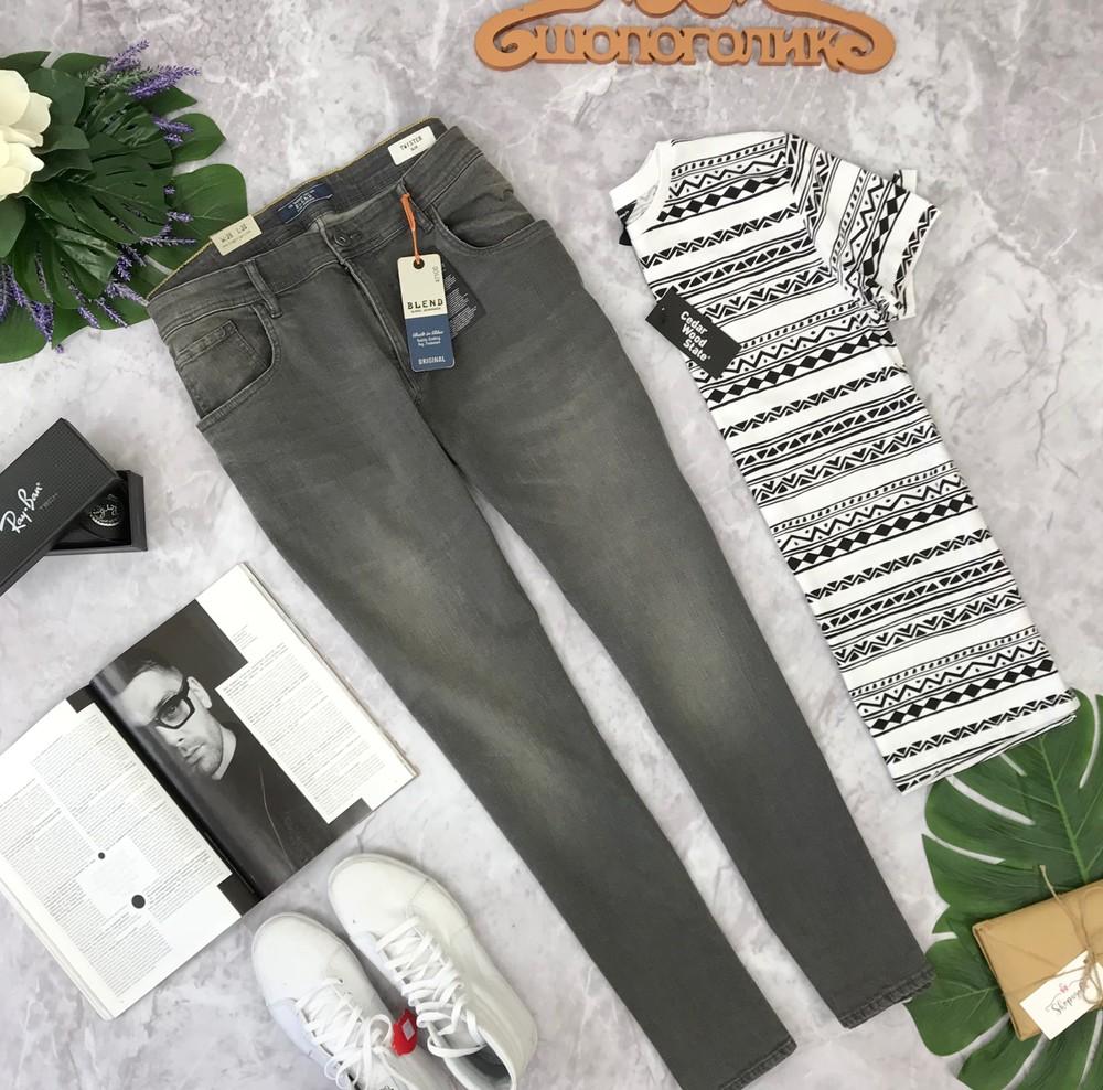 Серые джинсы для мужчин blend   pn180413 фото №1