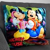 Декоративная подушка 3д Микки Маус Винни пух