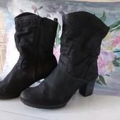 Кожаные деми ботинки Tamaris  25см германия