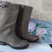 Шикарные кожаные сапоги 24.5см португалия