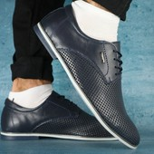 Туфли Yuves с перфорацией, кожа, р. 40-45, код gavk-0117