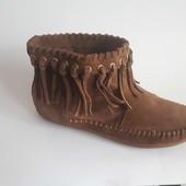 ботинки H&M (Англия) натур нубук замша р 38