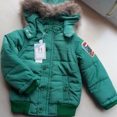 Куртка - жилет фирменная на 2 - 4 года. Еврозима
