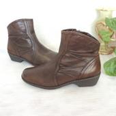 Брендовые комфортные ботиночки, кожа, 37 р (24,2 см)