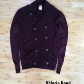 Мужской стильный мягкий теплый вязаный кардиган - кофта - размер 48-50