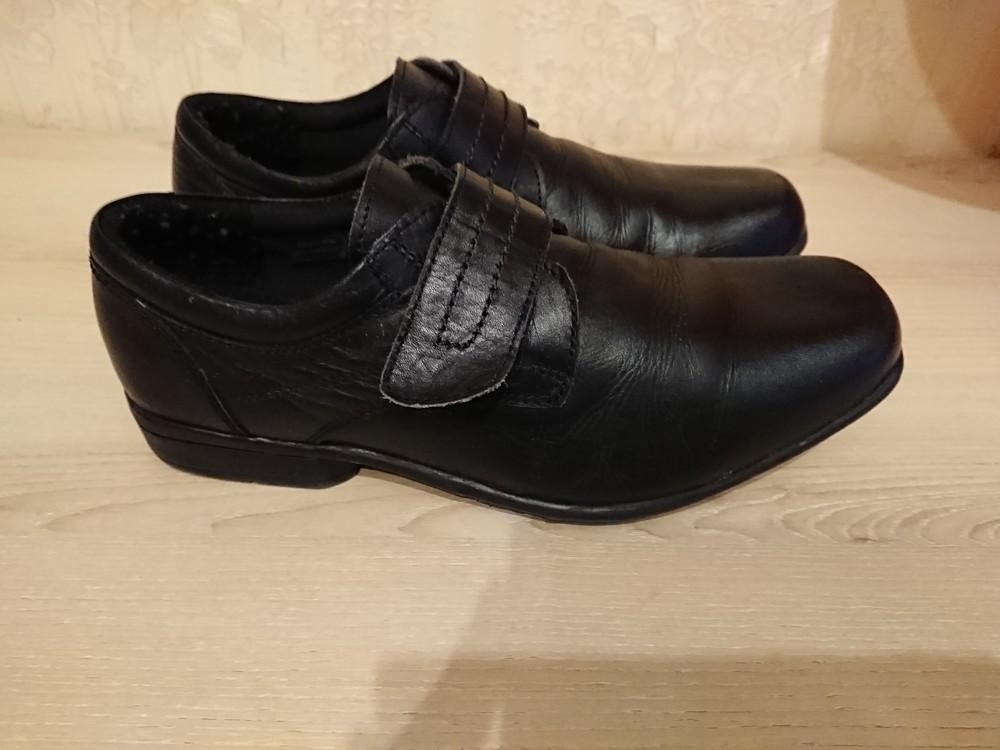 Туфли в школу на липучке кожа натуральная 37-38 р 24 2d03ca94c0351