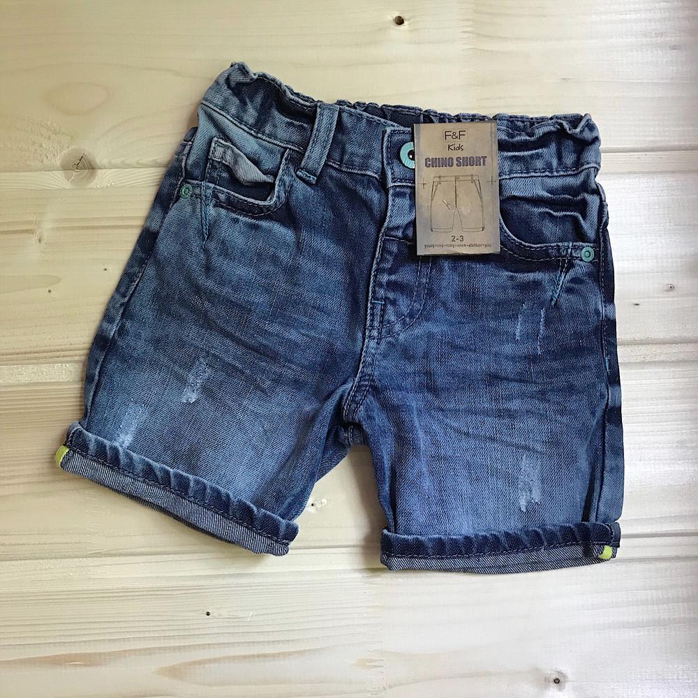 Распродажа!  ̶29̶0̶ 190 грн джинсовые шорты f&f для мальчика фото №1