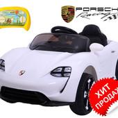 """Детский электромобиль """"Porsche """"Кожаная седушка"""""""