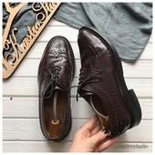 Мужские кожаные туфли броги рр 43