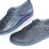 Мужские туфли комфорт, натуральная кожа, 2 цвета