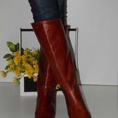 Мега крутые сапоги от Agnese, итальянский бренд.  Стильный фасон, натуральная кожа снаружи и внутри