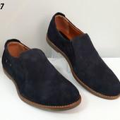 Мужские туфли натуральный замш.