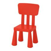 Дитяче крісло червоне маммут ІКЕА десткое кресло красное