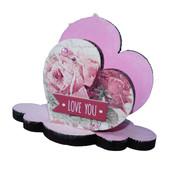 Салфетница из дерева Розовые сердца. Декор ручная работа