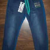 Брюки комбинированные (джинс+трикотаж) для мальчиков 128-158 Венгрия 3 цвета