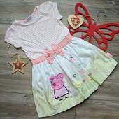 Платье с блестящей Пеппой TU (4-5 лет)