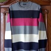 теплый свитер джемпер в полоску турция