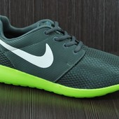 Nike Roshe Run Grey & Yellow реплика