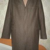 Шикарное шерстяное мужское пальто. Размер XXL.