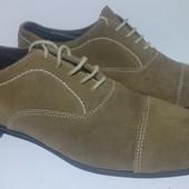 Туфли мужские,натуральный замш, Exo (Италия) размер 40