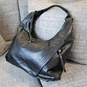 #890201 Black Женская вместительная сумка мешок на два отделения
