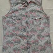 Джинсовая рубашка в цветочный принт Pimkie ( M )
