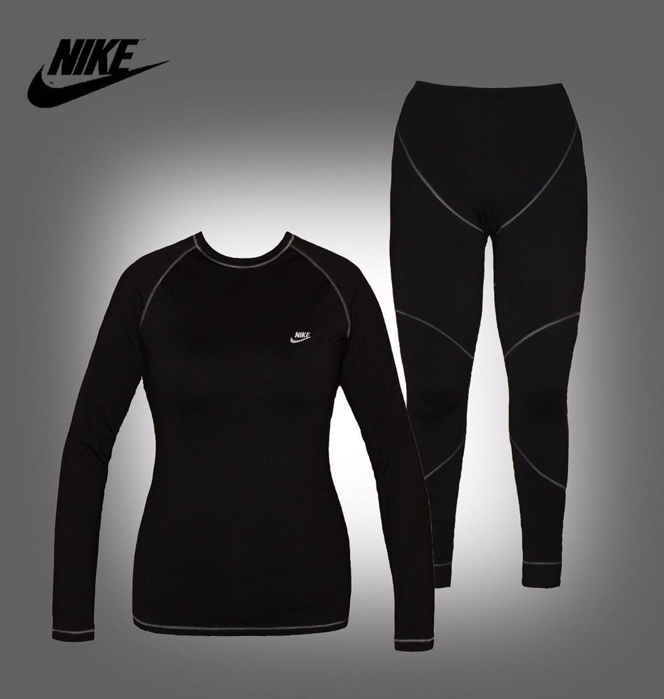 Термобелье женское nike pro core fitted long sleeve shirt фото №1