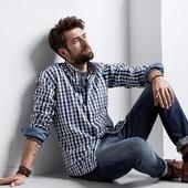 Стильная мужская рубашка  Tchibo германия , из высококачественного хлопка.- 100%, размер ХЛ