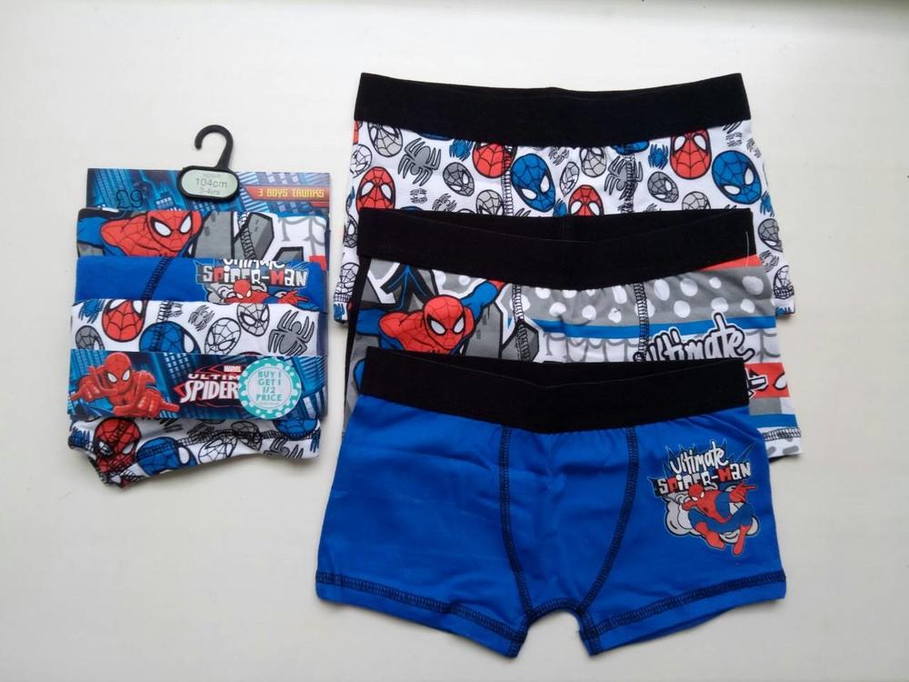 Набор из 3 боксеров spider man, трусы для мальчика на 3-4 г фото №1