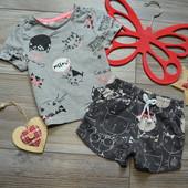 Комплект костюм летний с кошками TU (9-12 мес)