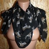 Стильный шарф Andrea Cipo 100 Silk. Оригинал. Swiss made длина - 142 см., высота - 33 см.
