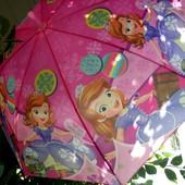 Принцесса София Замечательный зонт зонтик трость для девочки 3-8 лет