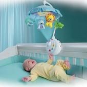 Карусель на кроватку с проектором Умный малыш