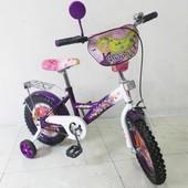 Велосипед Tilly Флора 14 T-21427 purple + white